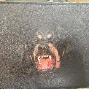 Black Coated Rottweiler Givenchy Clutch